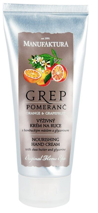Grep & Pomeranč : Výživný krém na ruce Grep & Pomeranč s bambuckým máslem