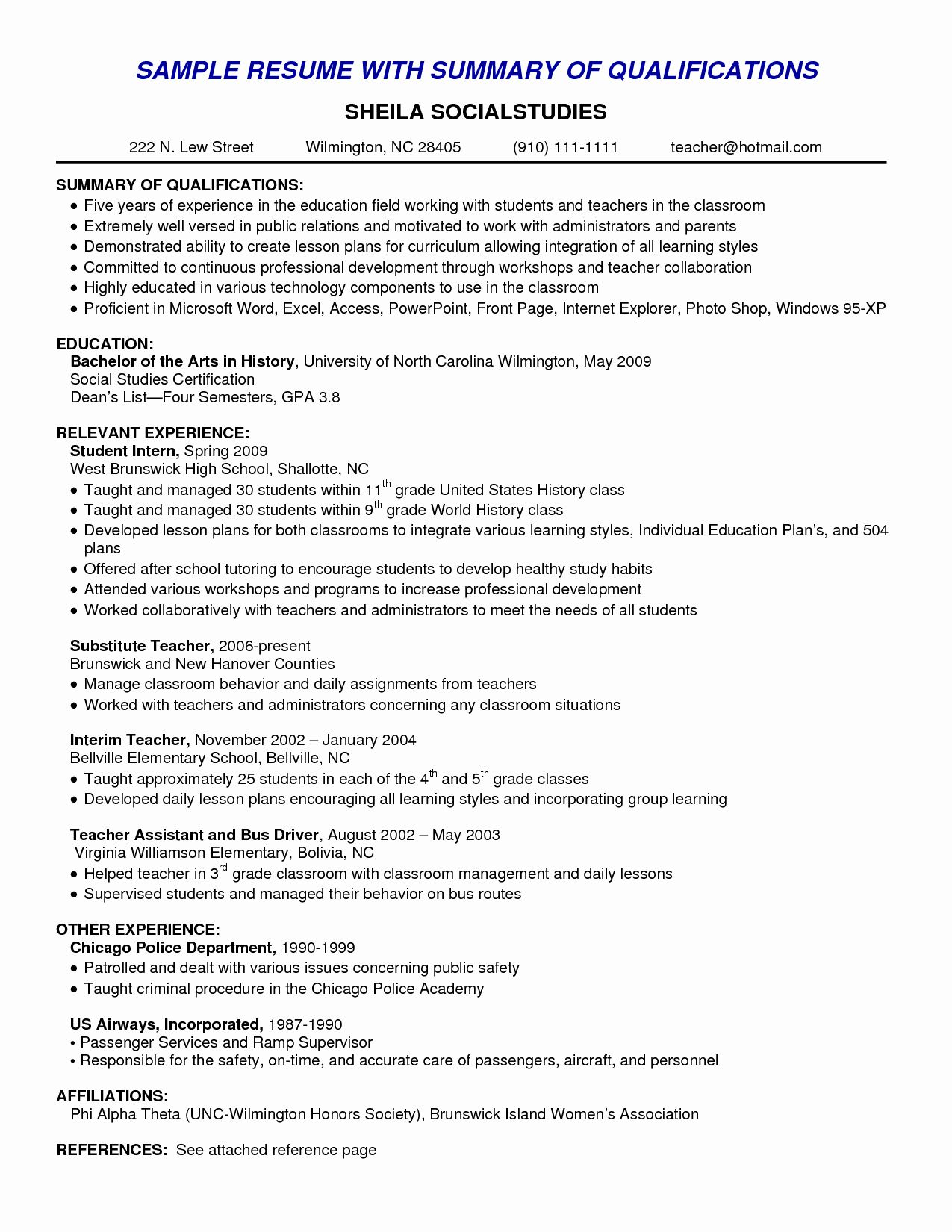 Resume Power Statement Example Unique Best Summary Of