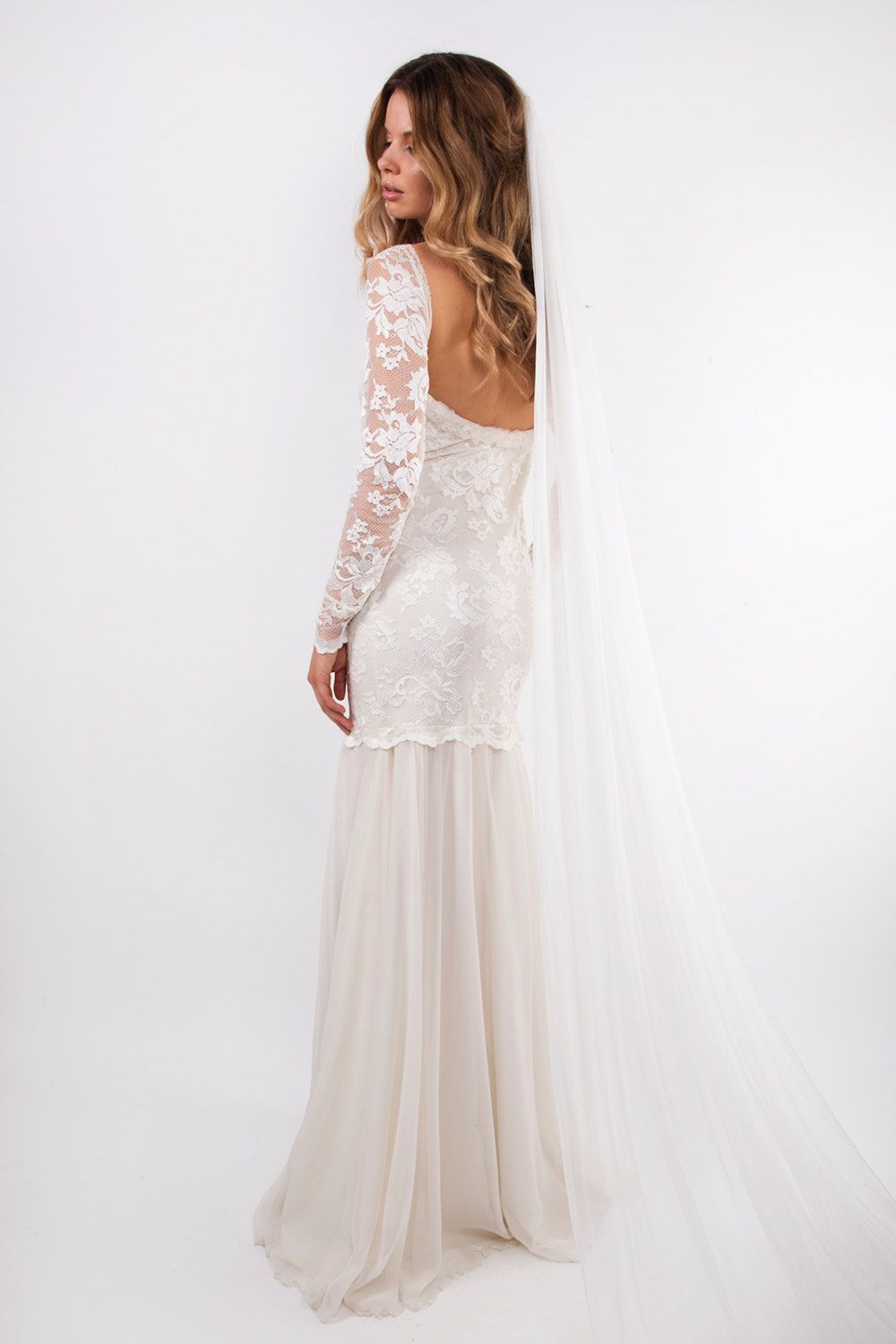 Wedding dress lace sleeves  Grace loves lace lace wedding dress by Graceloveslace on Etsy