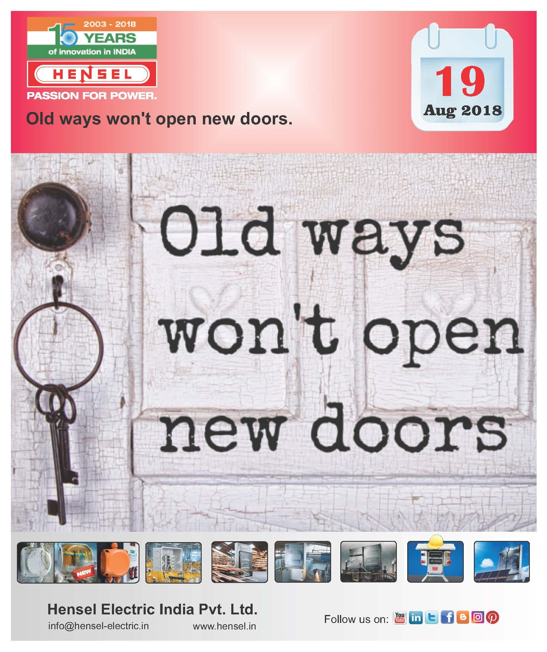 Old Ways Won T Open New Doors Hensel Passionforpower