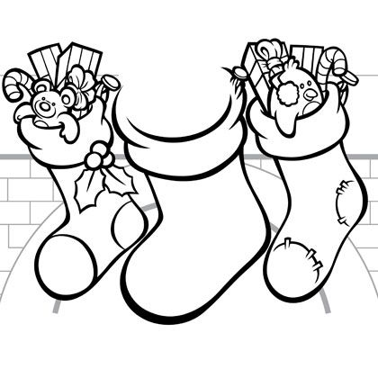 christmas printables for kids familydisneycom sunday school craftscoloring pagescoloring - Christmas Stockings Coloring Pages 2