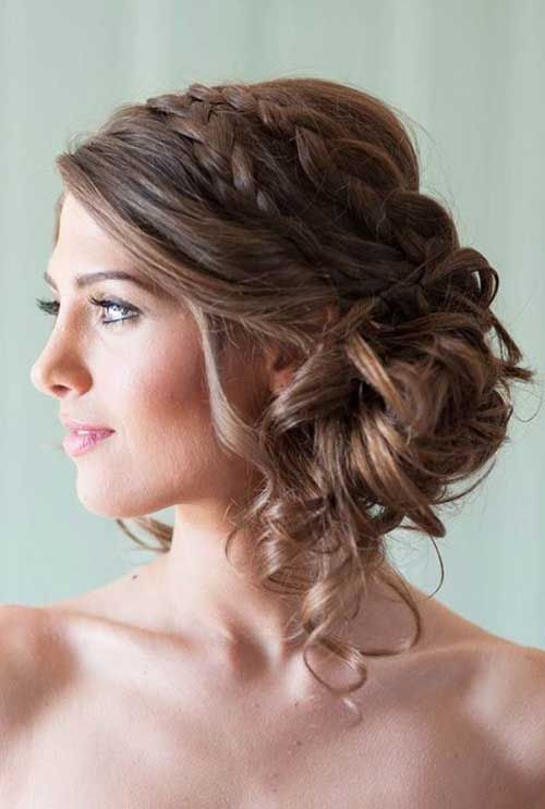 Braids Low Updo Hairstyles Jpg 500 743 Pixels Wedding Hairstyles For Long Hair Hair Styles Strapless Dress Hairstyles