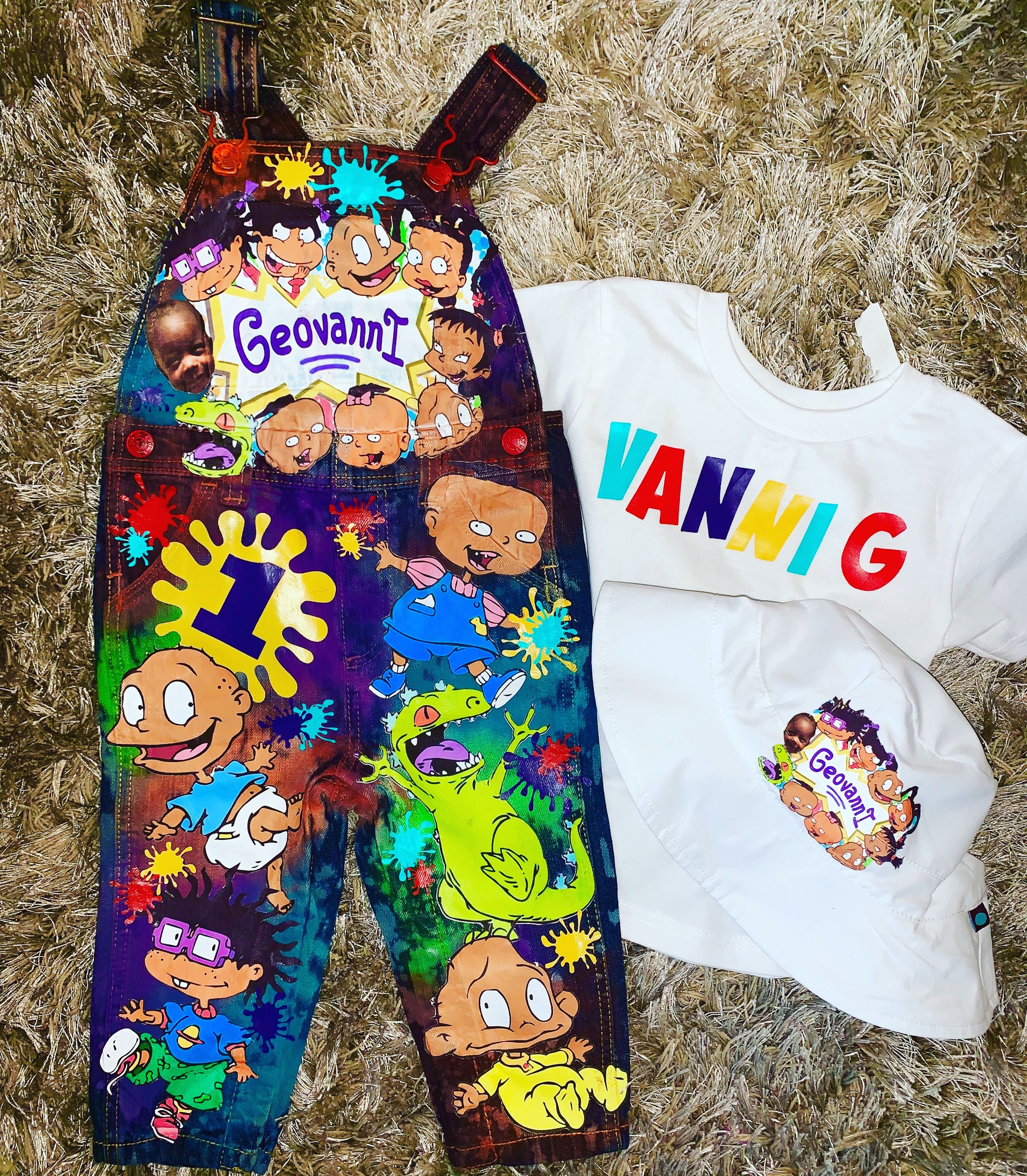 Rugrats birthday outfit overalls