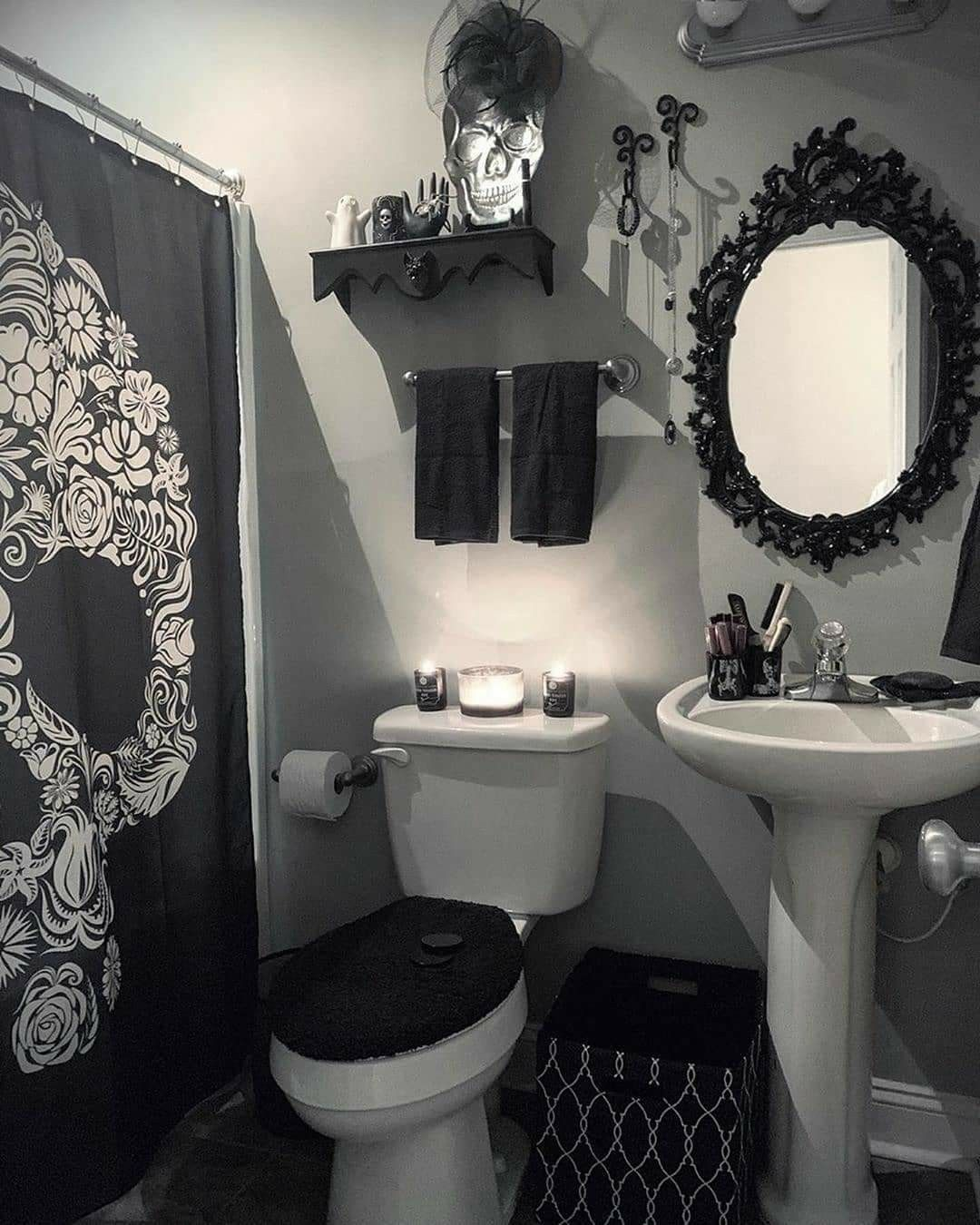 pinunique intuitions on bathroom décor and diy (gothic