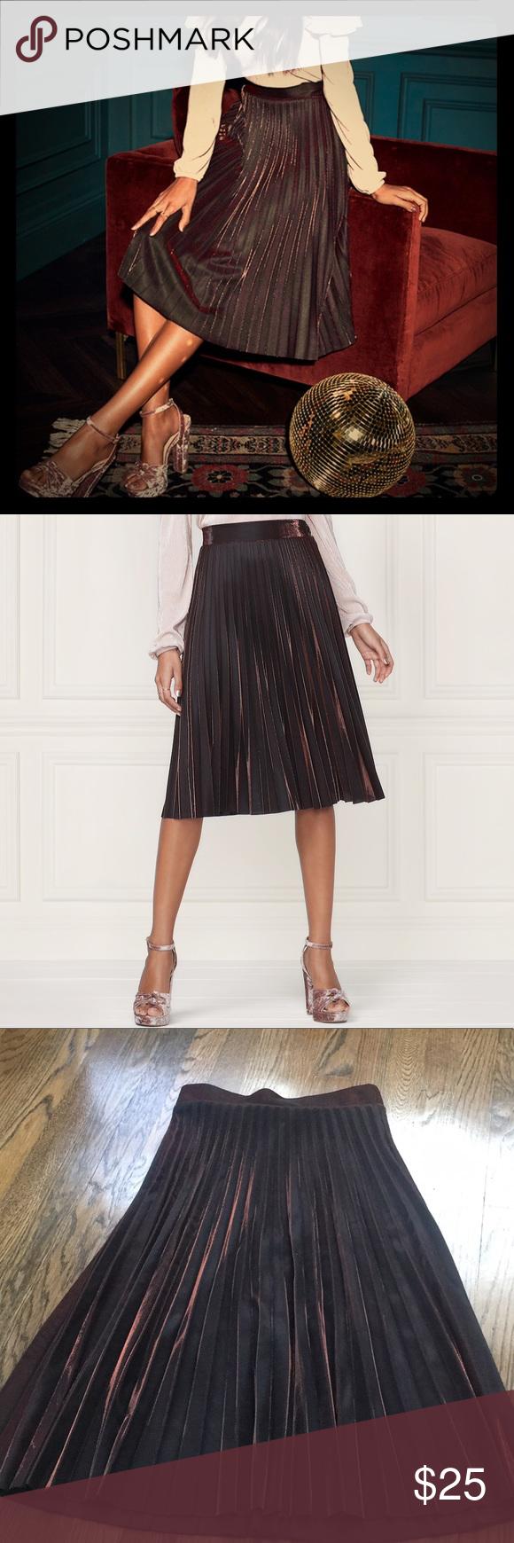 109bacd83 Lauren Conrad runaway collection metallic skirt Lauren Conrad runaway  collection metallic copper pleated skirt! BNWT! ❌no trades LC Lauren Conrad  Skirts
