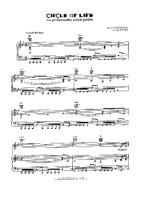 The Lion King Circle Of Life Free Downloadable Sheet Music In