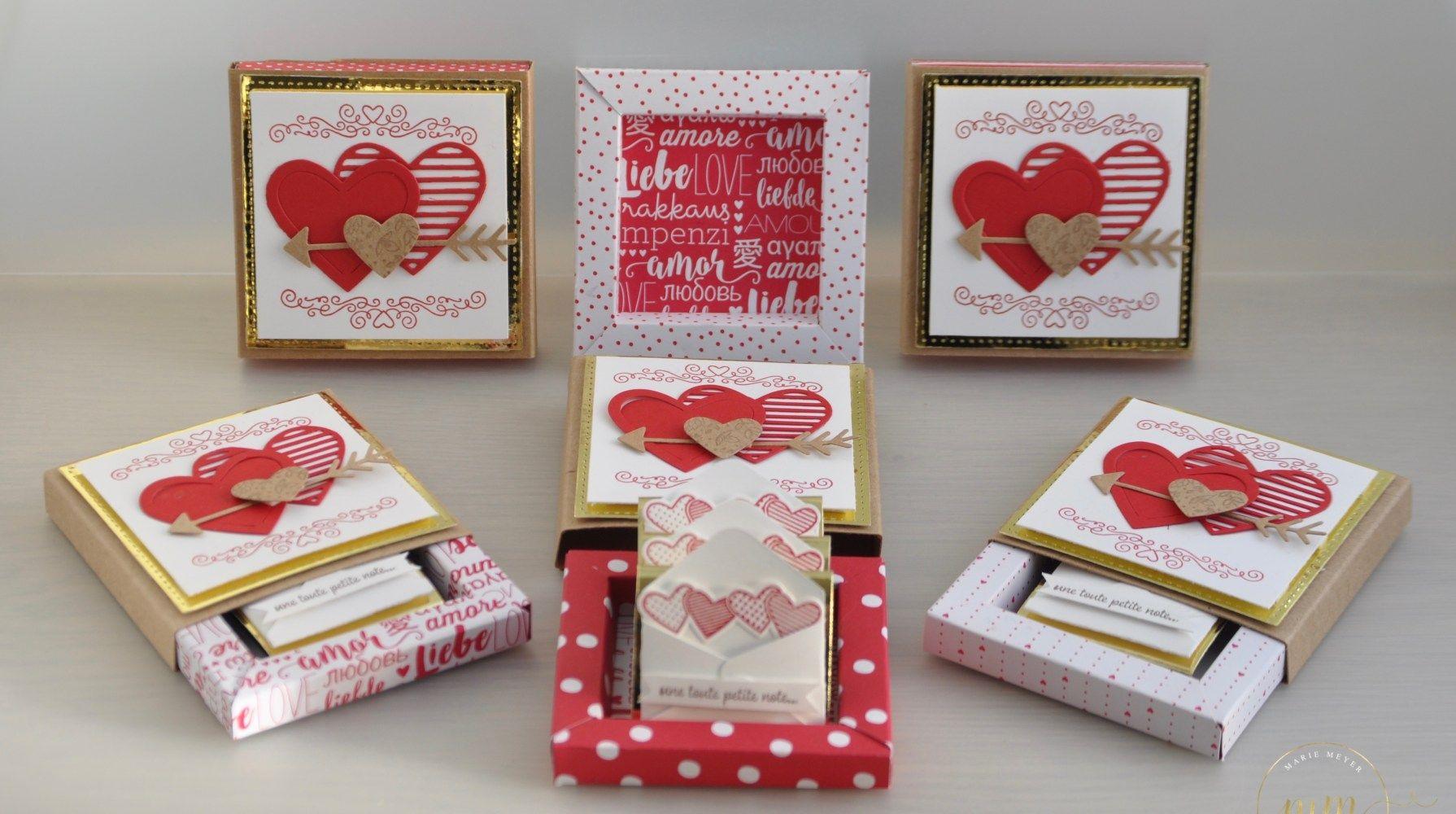 Boites D Allumettes Cadre Pour La Saint Valentin Et Son Tutoriel