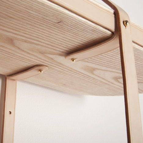 Design - 나무와 가죽으로 만든 선반  Furniture  Pinterest  가구, 의자 ...