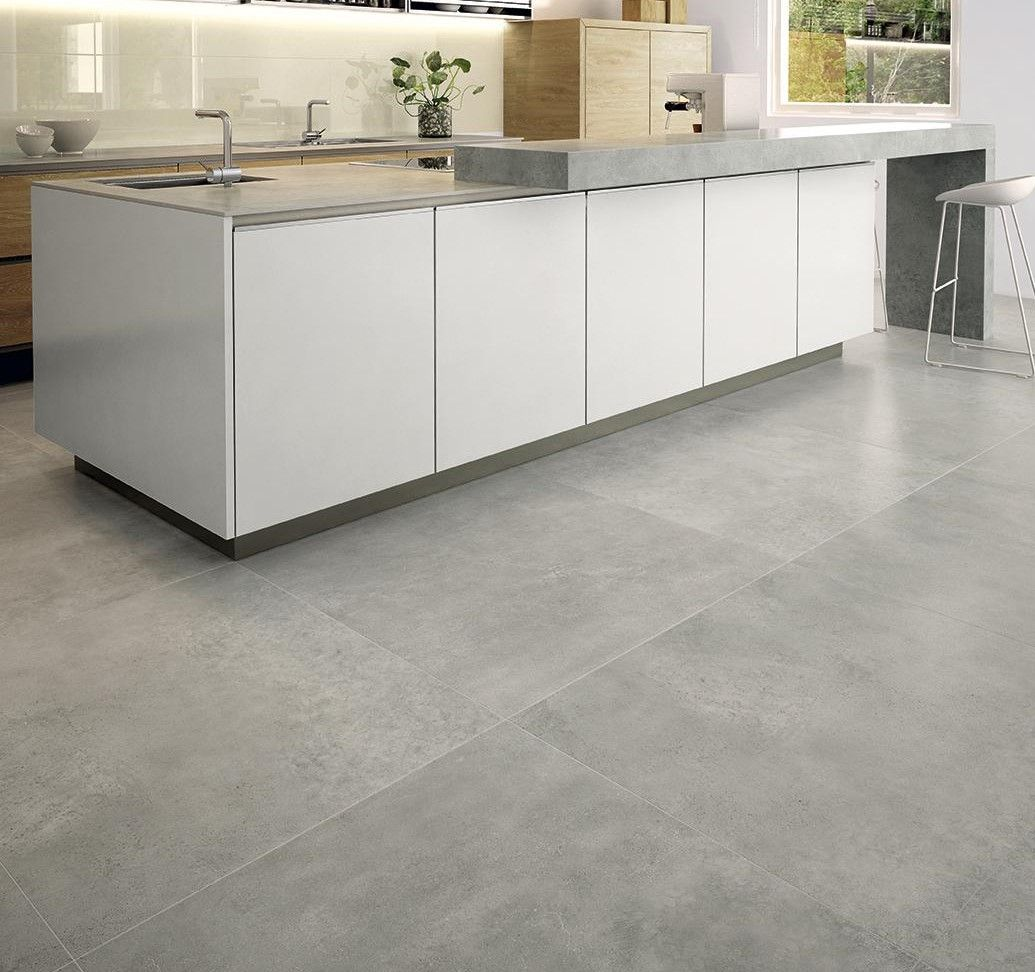 Tile Large Grey Porcelain Floor Tiles Amazing Home Design Lovely Throughout Measurements 1035 X 972 Pisos Para Cozinha Cozinhas Modernas Piso Cinza