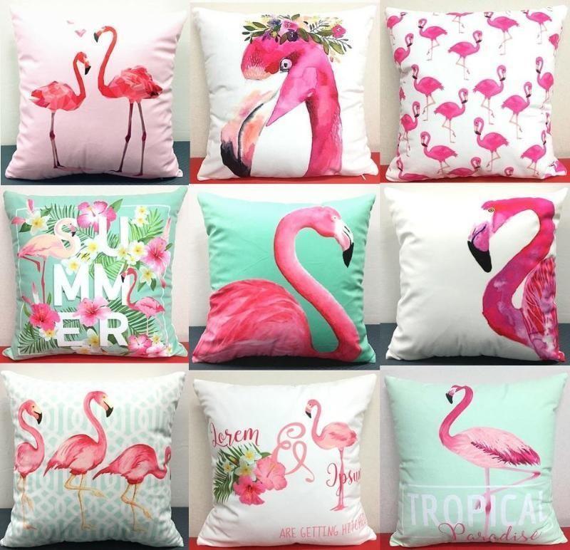 Custom made Flamingo 18 Cushion Pillow Cover