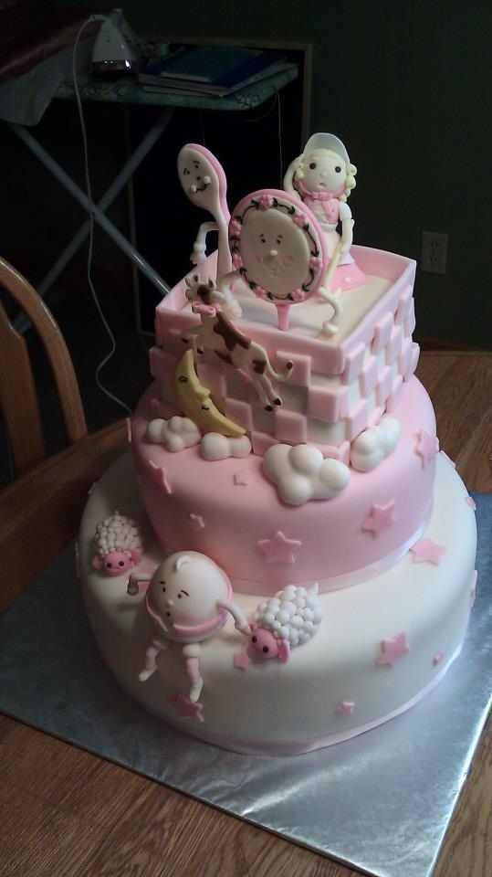 pink nursery rhyme baby shower cake andrews bday pinterest shower cakes nursery and cake. Black Bedroom Furniture Sets. Home Design Ideas