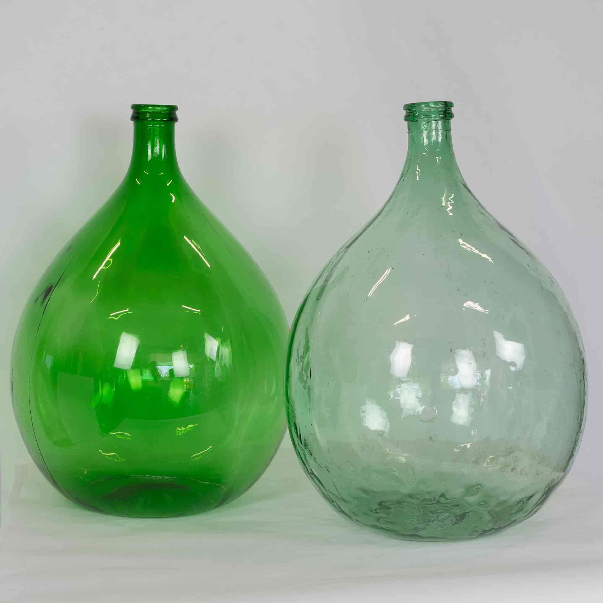 Blown Onion Bottle With Handle Antique Vintage Style Colonial Black Green Glass