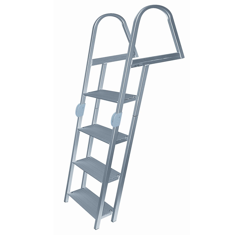 Dockmate 4 Step Folding Dock Ladder Overton S Dock Ladder Folding Ladder Aluminium Ladder