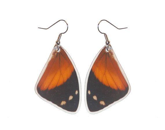Real butterfly wing earrings  Smyrna by AsanaNaturalArts on Etsy, $10.00