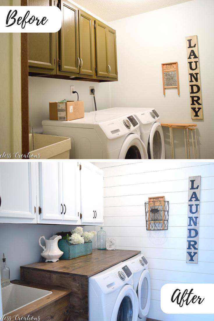 Laundry Room Reveal 100 Room Challenge Timeless Creations Laundry Room Storage Laundry Room Storage Shelves Laundry Room Sink
