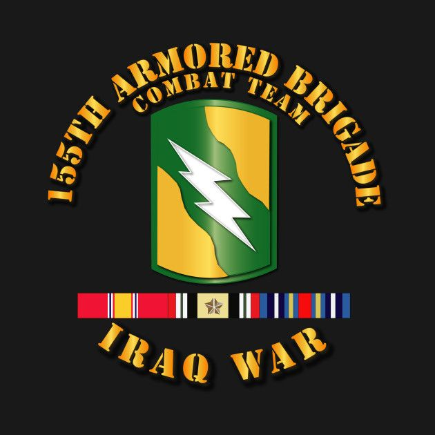 Check out this awesome '155th+Armored+BCT+-+Iraq+War+w+SVC+Ribbons' design on @TeePublic!