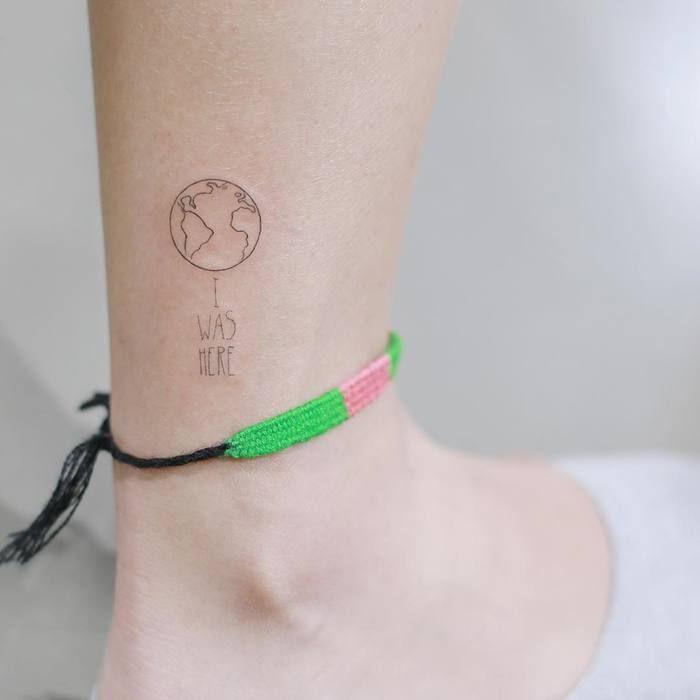 2440e9e9a 20 Vivid Earth Tattoo Designs and Ideas | Minimalist Tattoos | Earth ...