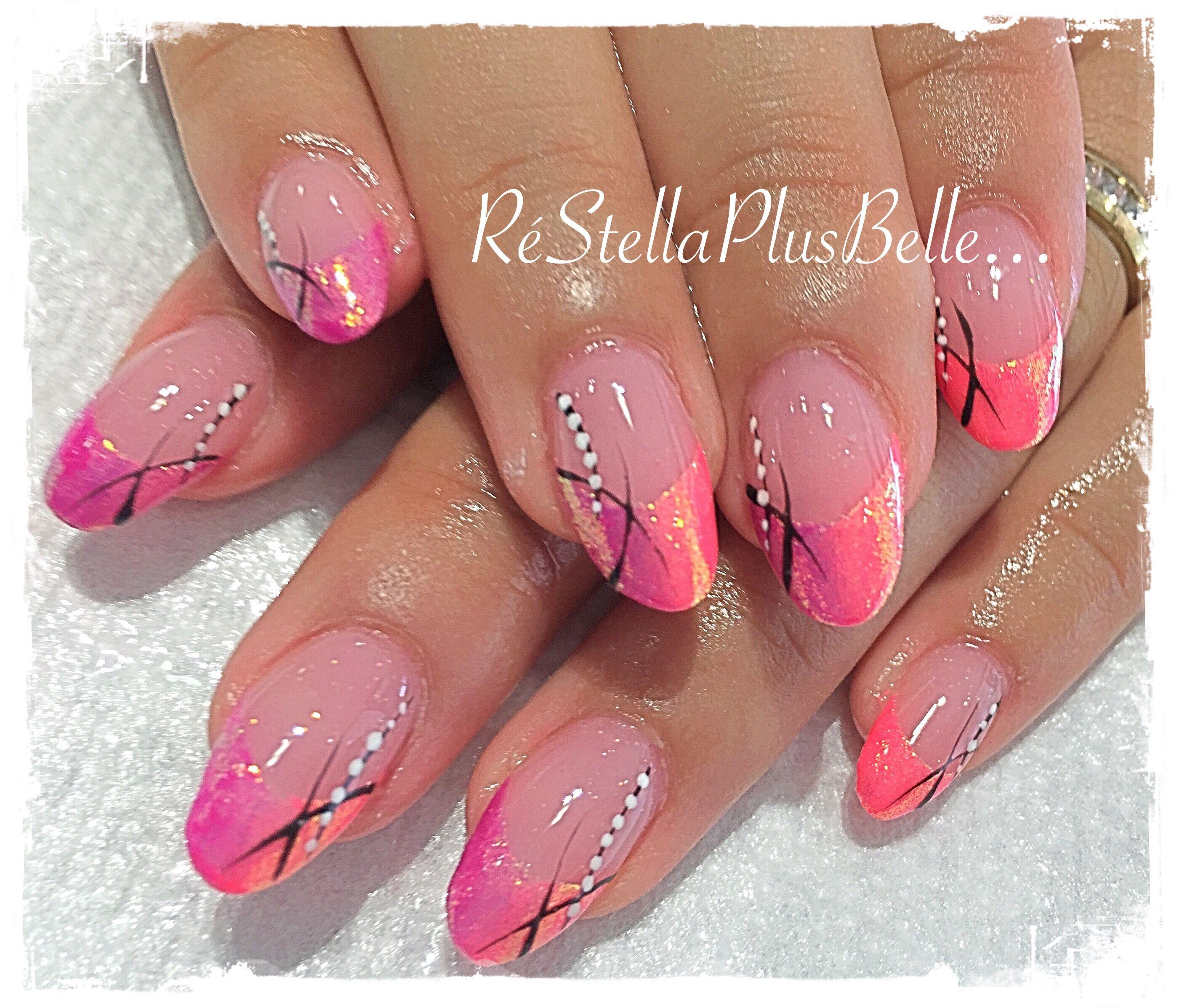 Ausgezeichnet Hot Pink Nagelkunst Fotos - Nagellack-Design-Ideen ...