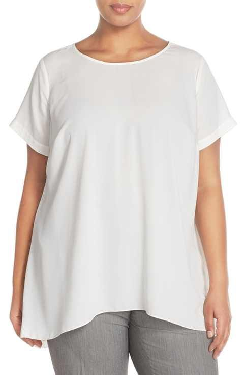 981ecccd07fe7 Vince Camuto High Low Short Sleeve Blouse (Plus Size)
