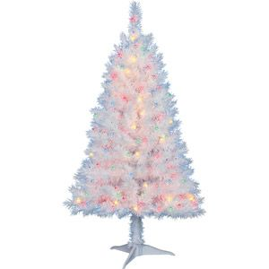 Holiday Time Pre Lit 4 Indiana Spruce Artificial Christmas Tree White Mul Christmas Tree With Coloured Lights Small White Christmas Tree Blue Christmas Tree