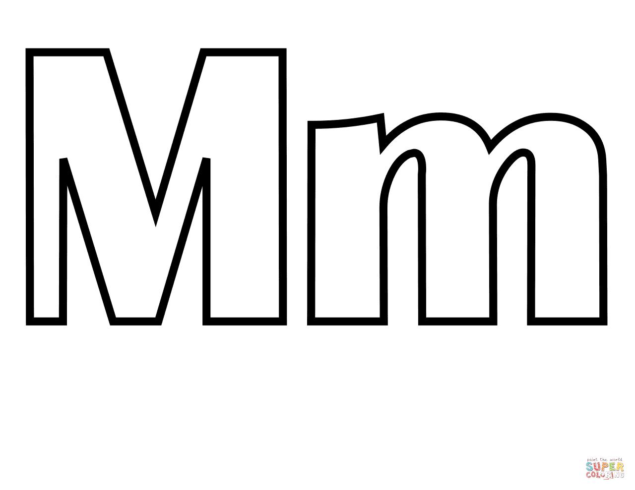 Letra M Dibujos Para Colorear – Dibujos Para Dibujar   Letras ...