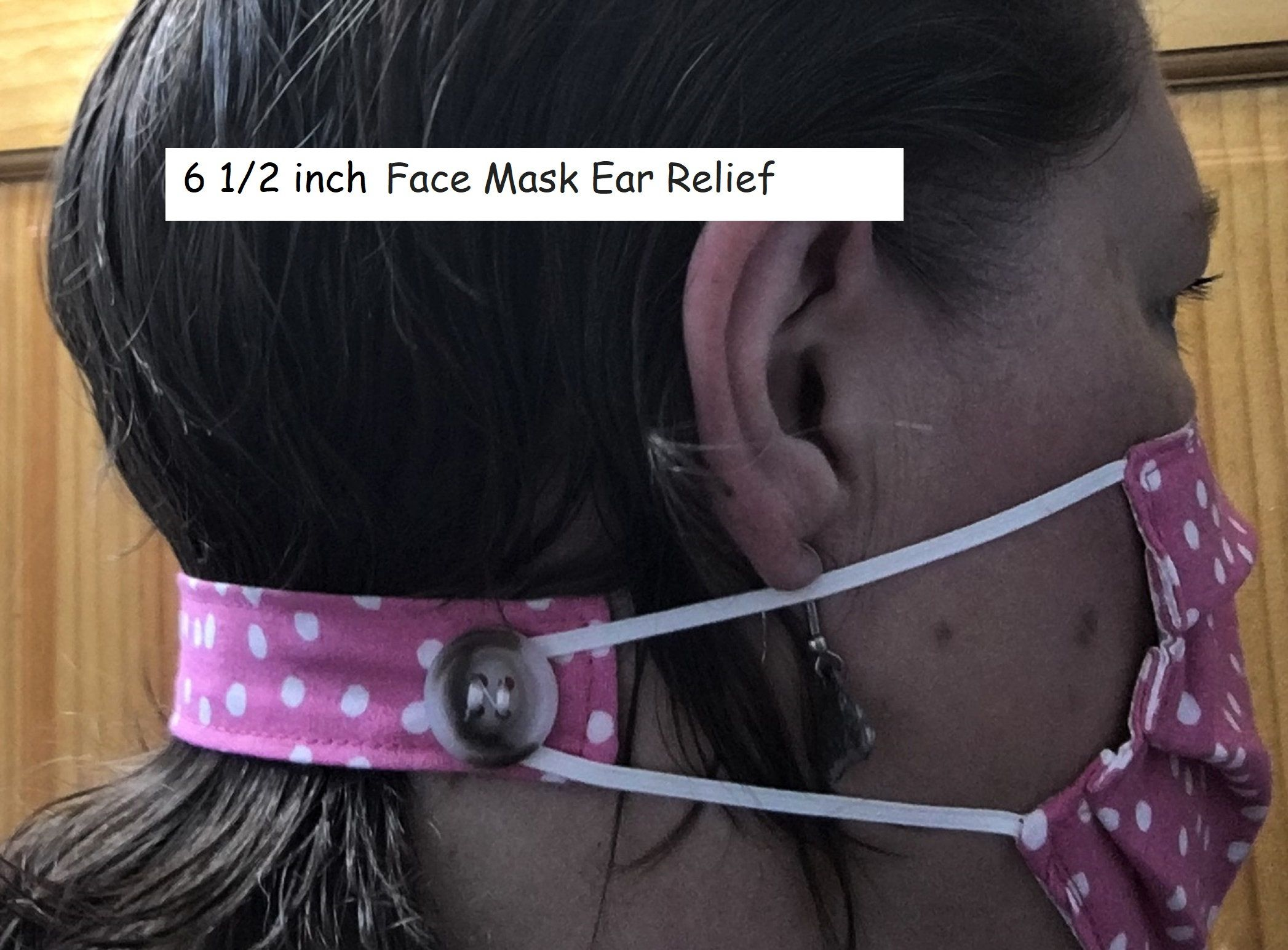 Photo of Face mask ear protector, cotton washable face mask savers, face mask extenders relieve ear stress, Your Choice of Colors, black, blue, gray