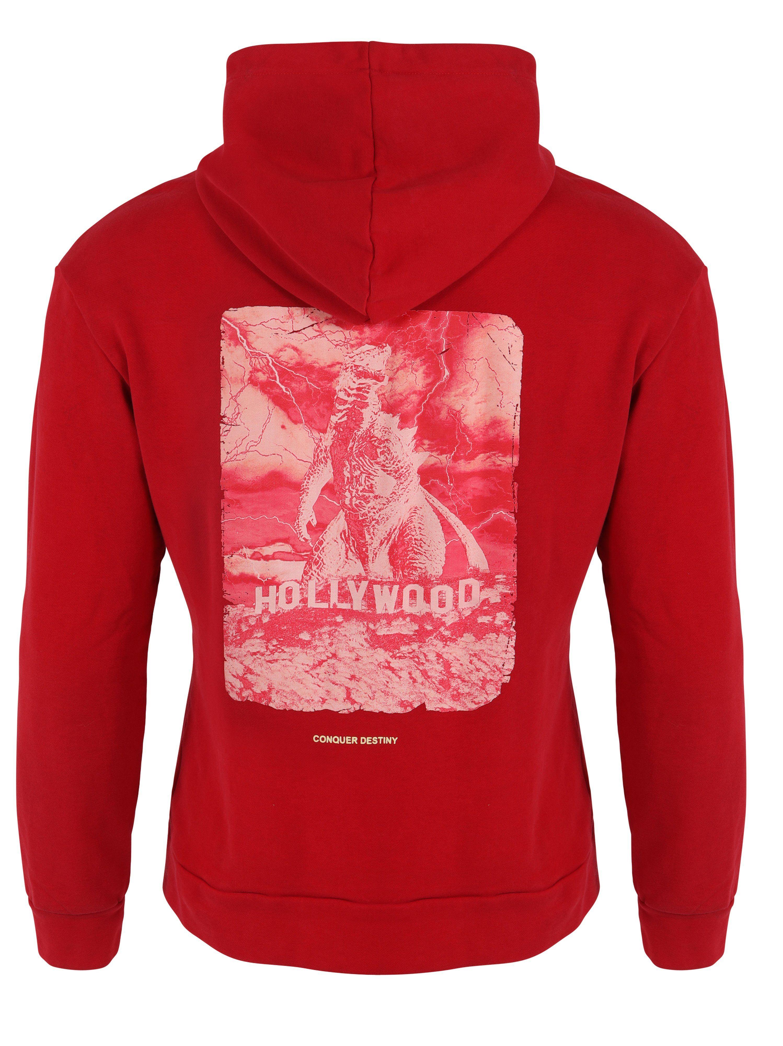 Mens Hoodies Godzilla Red – 3X