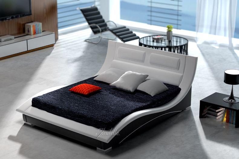 Bed sumoya design leren tweepersoonsbed vervaardigd uit hoogwaardig pellini leer dit is een - Modern hoofdbord ...