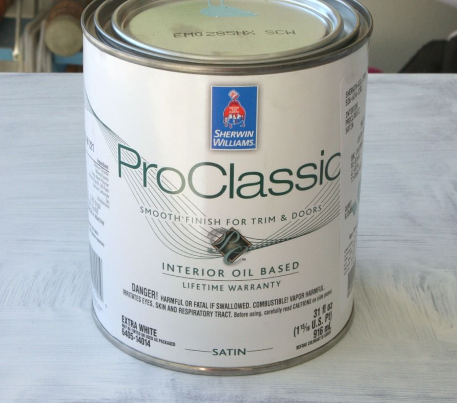 Sherwin Williams ProClassic And ProMar Is The Best Oil Based Paint To Use  For Furniture