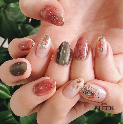 50 trendy nails sencillas primavera 2018  nail art