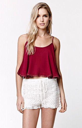b1229021e929 LA Hearts Sweater Crochet Scalloped Shorts at PacSun.com