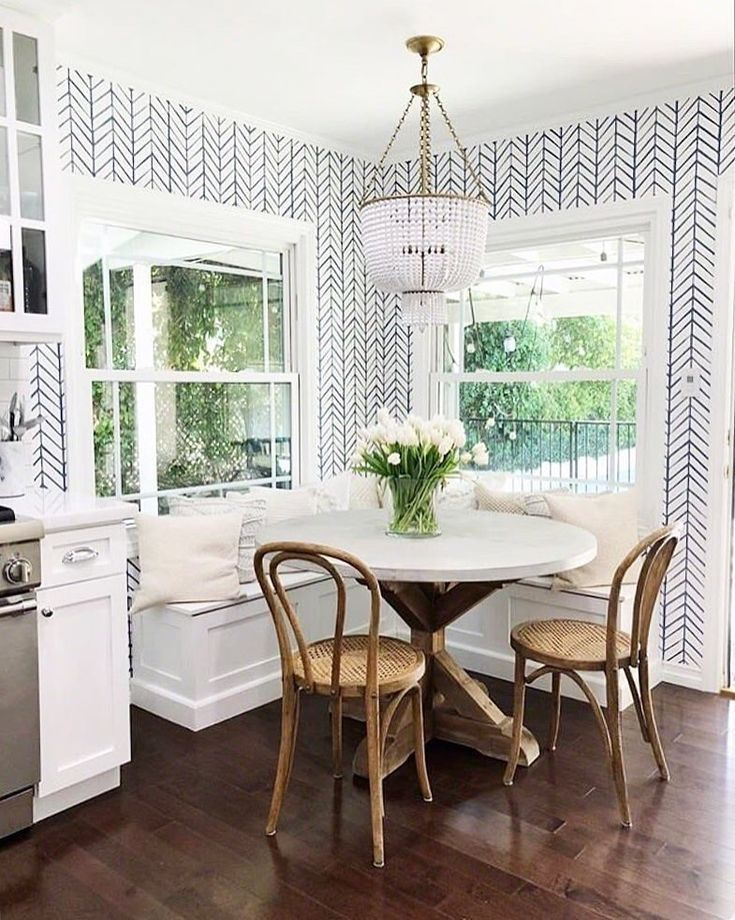 Breakfast Nook Serena And Lily Chevron Wallpaper