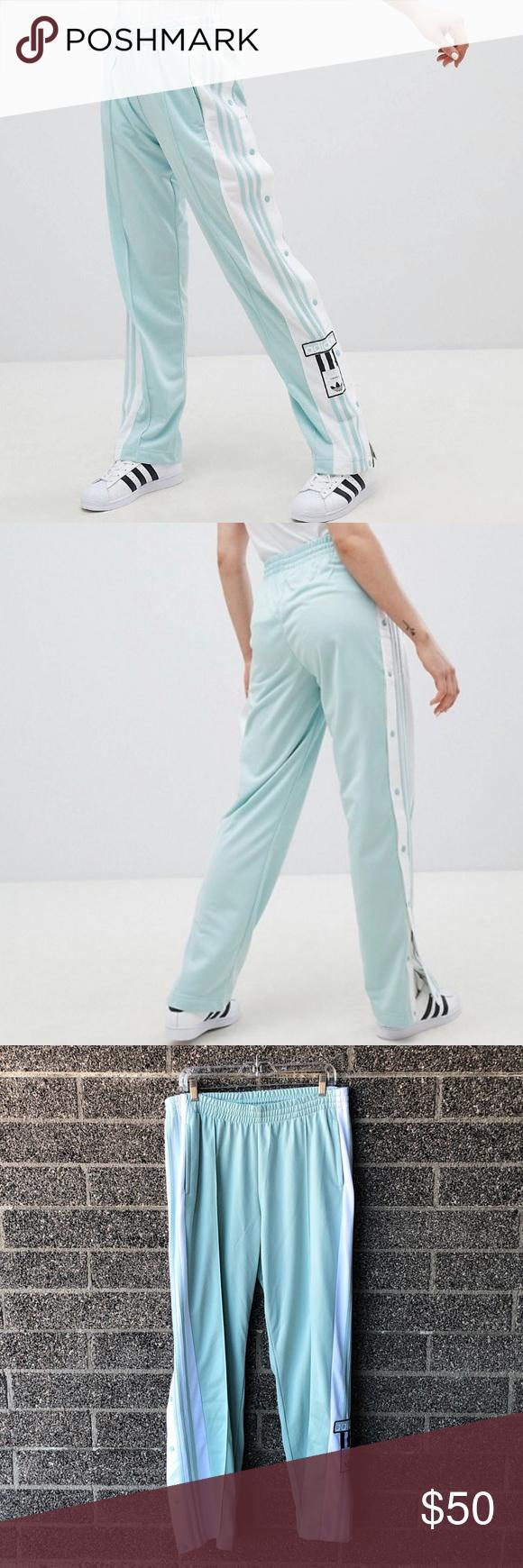 42437319 Adidas Originals adicolor Popper Pants In Mint L Adidas Originals adicolor  Popper Pants In Mint size large. New condition. No longer just a slacker  staple ...
