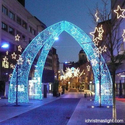 Christmas outdoor decor LED lighted arch Wedding lighting