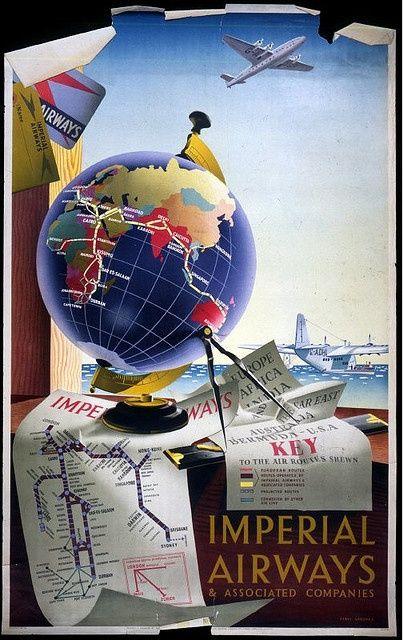 Meritorio los logros de Avianca, aun cuando requirieron de todo un Efromovich para salvarla. | Afiche Imperial Airways.