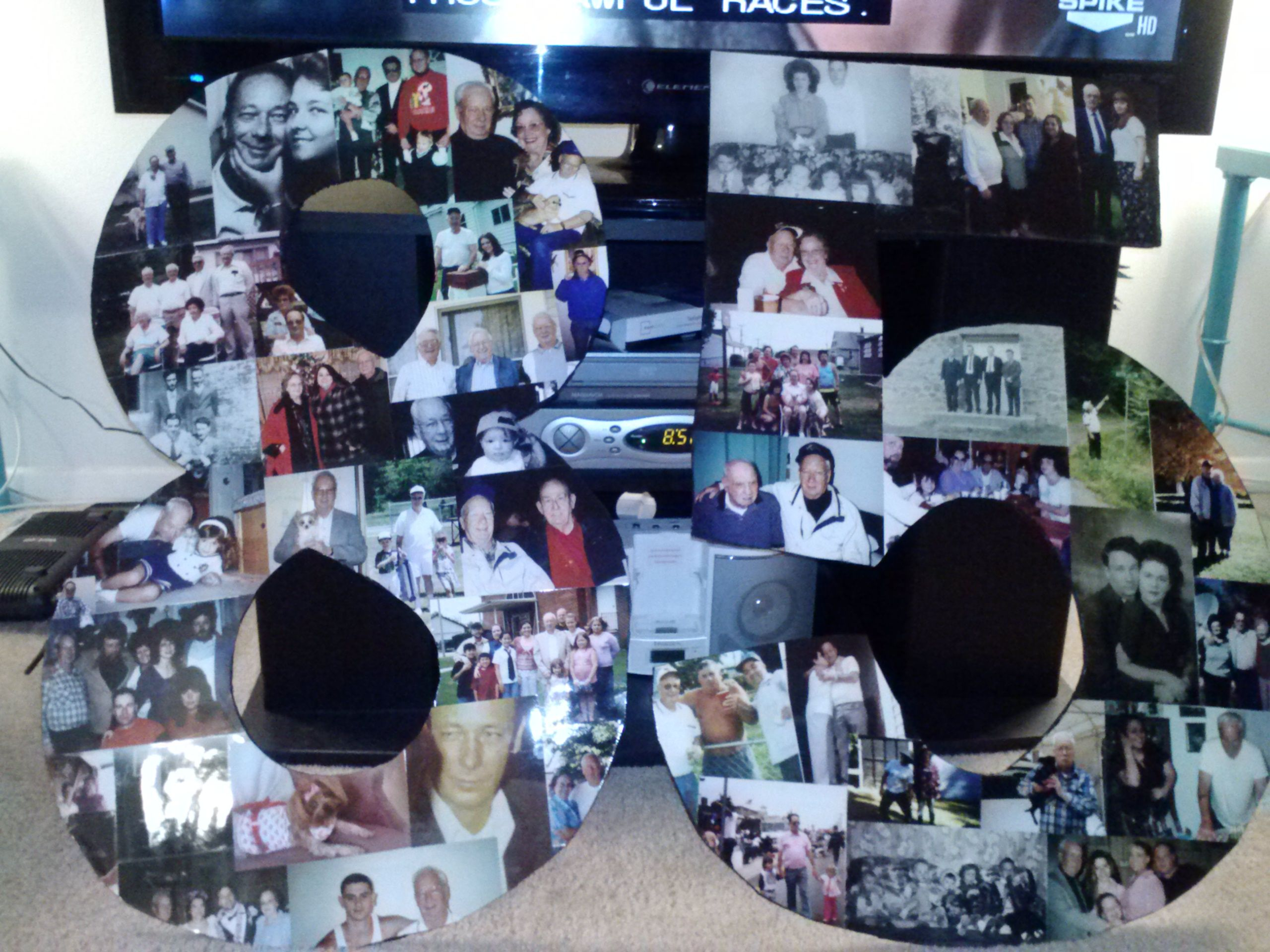 Collage for my grandpa s 85th birthday She s Crafty