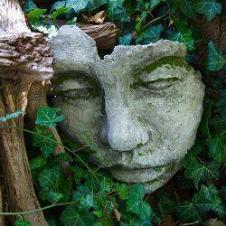 DIY Concrete Face Garden Sculpture Mold - Made By Barb - easy mold