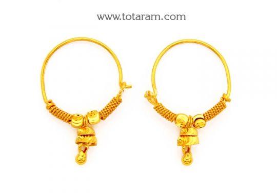 Small Gold Hoop Earrings for baby Ear Bali Totaram Jewelers Buy