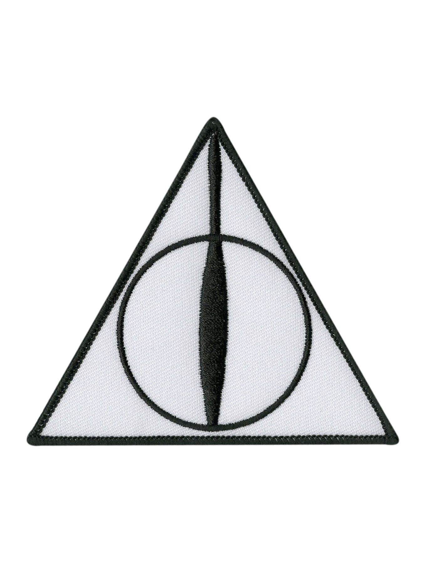 Harry Potter Deathly Hallows Iron On Patch Harry Potter Deathly