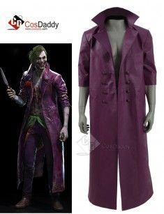 d8536e4c1 DC Comics Joker purple long Jacket Coat | Female Joker Jacket ...