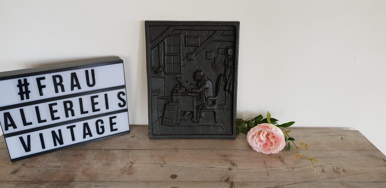 Eisenbild, Kunstguss Bild, Eisenguss vintage, Wandbild Eisen, Relief ...
