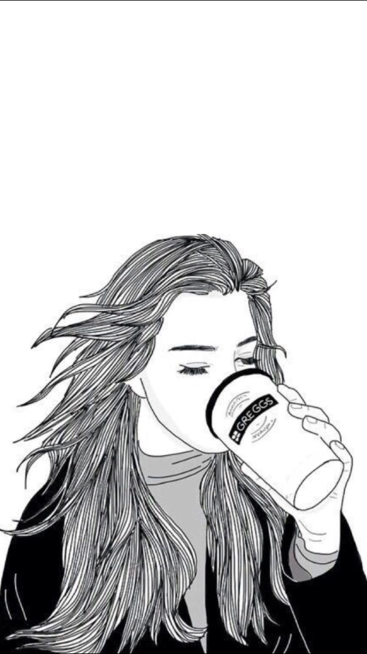 Pin by NIMRA on sketches | Girl sketch, Tumblr girl drawing, Drawings
