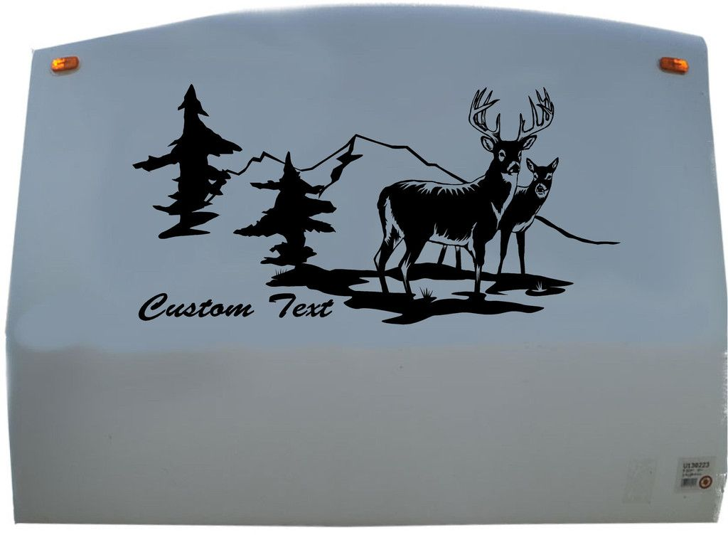 Deer Buck Doe Hunting Camping RV Camper Vinyl Decal Sticker - Custom rv vinyl decals