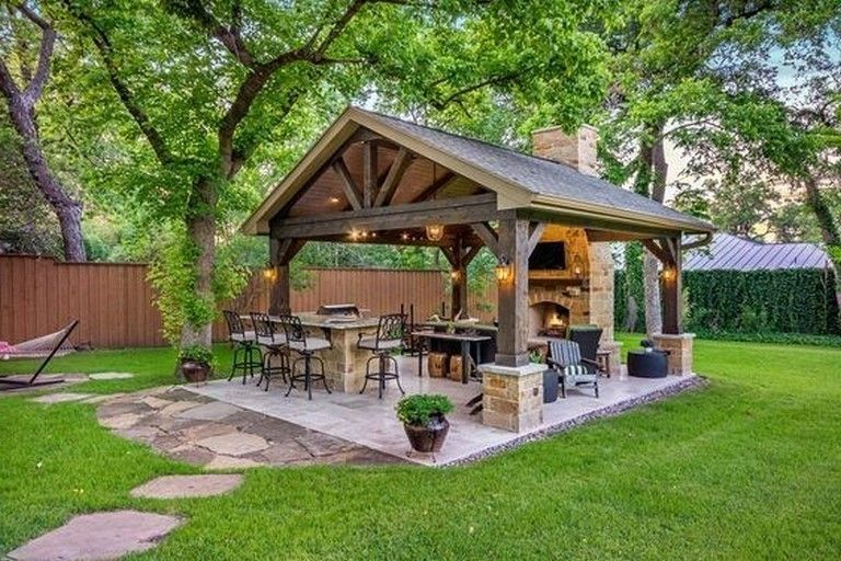 25 Amazing Ideas To Make Cozy Outdoor Kitchen Decoration