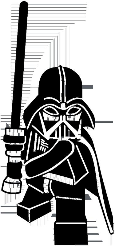 Sticker Figurine Dark Vador Pochoir Silhouette Dark Vador