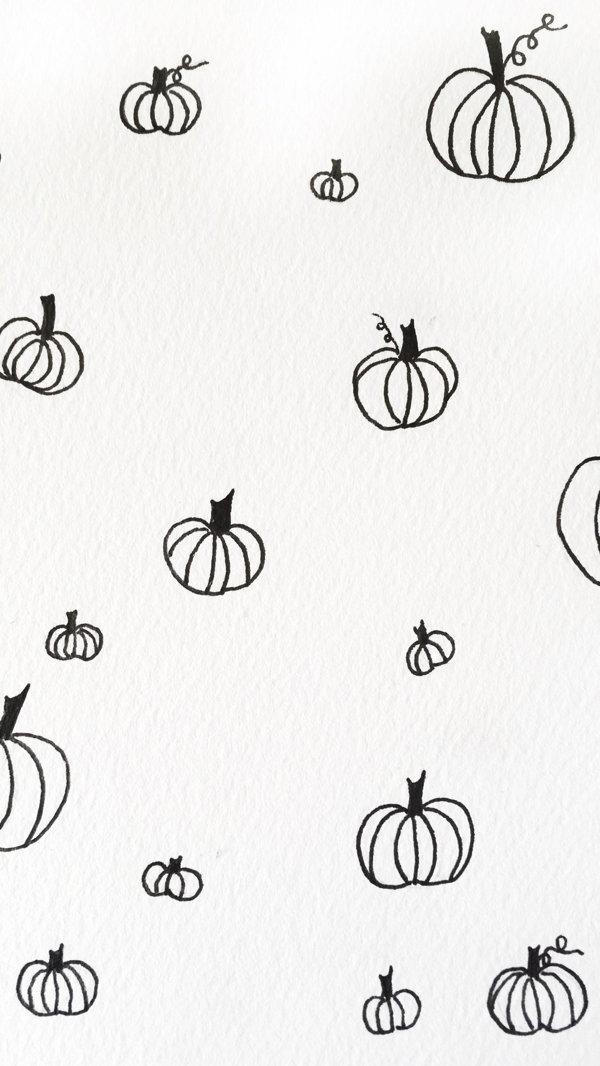 Black And White Pumpkin Iphone Watercolor Wallpaper Iphonewallpaperfall Watercolor Wallpaper Iphone Fall Wallpaper Pumpkin Wallpaper
