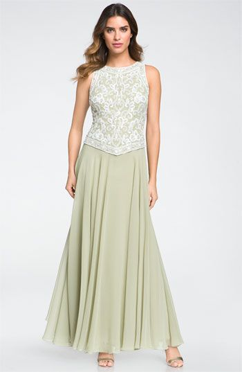 J Kara Embellished Sleeveless Crepe Gown Available At Nordstrom Mother Of The Bride