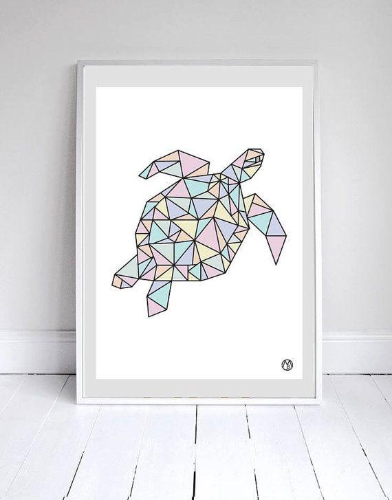 Geometric turtle tattoo en 2019 zeichnungen zeichnen y geometrie - Geometrische wandbilder ...