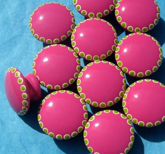 Pink knobs