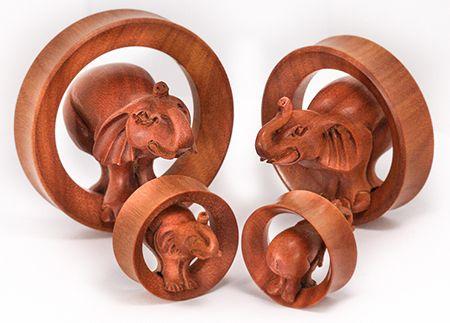 Flesh Tunnel Ear Head Elephant
